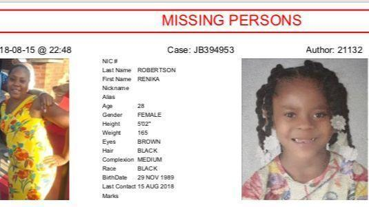 Mother 5-year-old daughter reported missing from the West Side