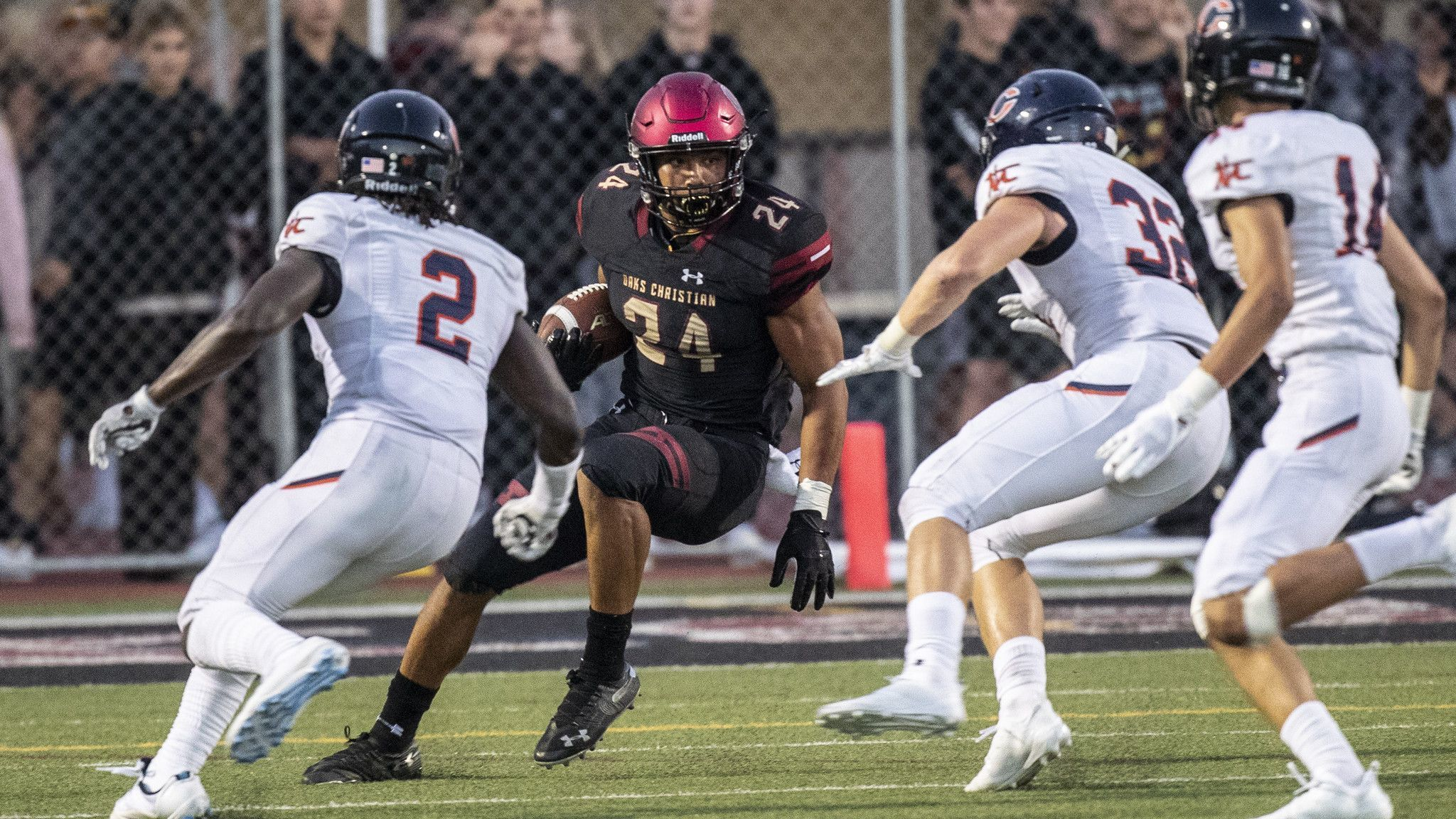 Oaks Christian's Zach Charbonnet runs all over Chaminade in 31-13 victory