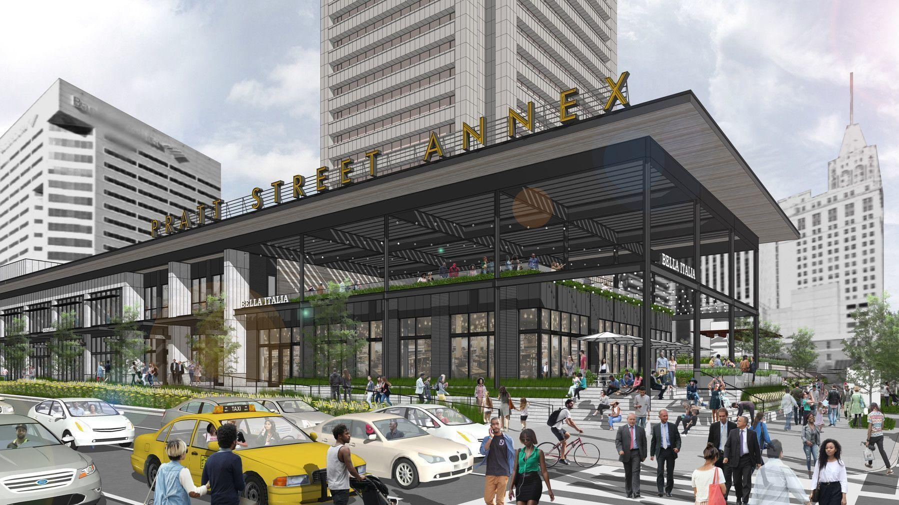 new retail planned in heart of downtown baltimore at pratt and light