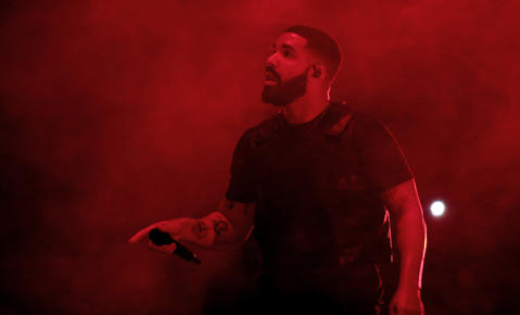 Drake performs at the United Center in Chicago on Aug. 17, 2018.
