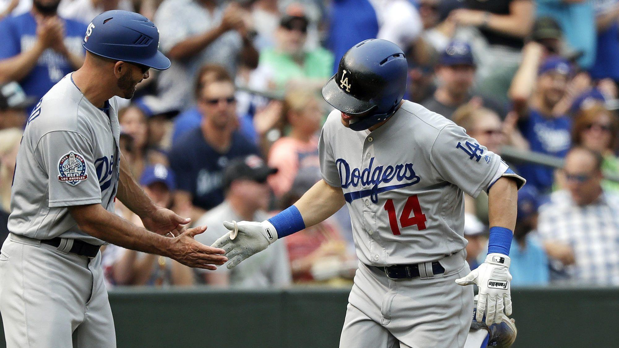 Dodgers stage another offensive ambush in 12-1 victory over the Mariners