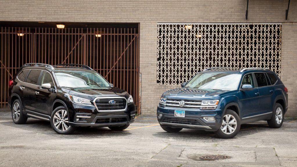 Best three-row midsize SUV: 2019 Subaru Ascent or 2018 Volkswagen Atlas?