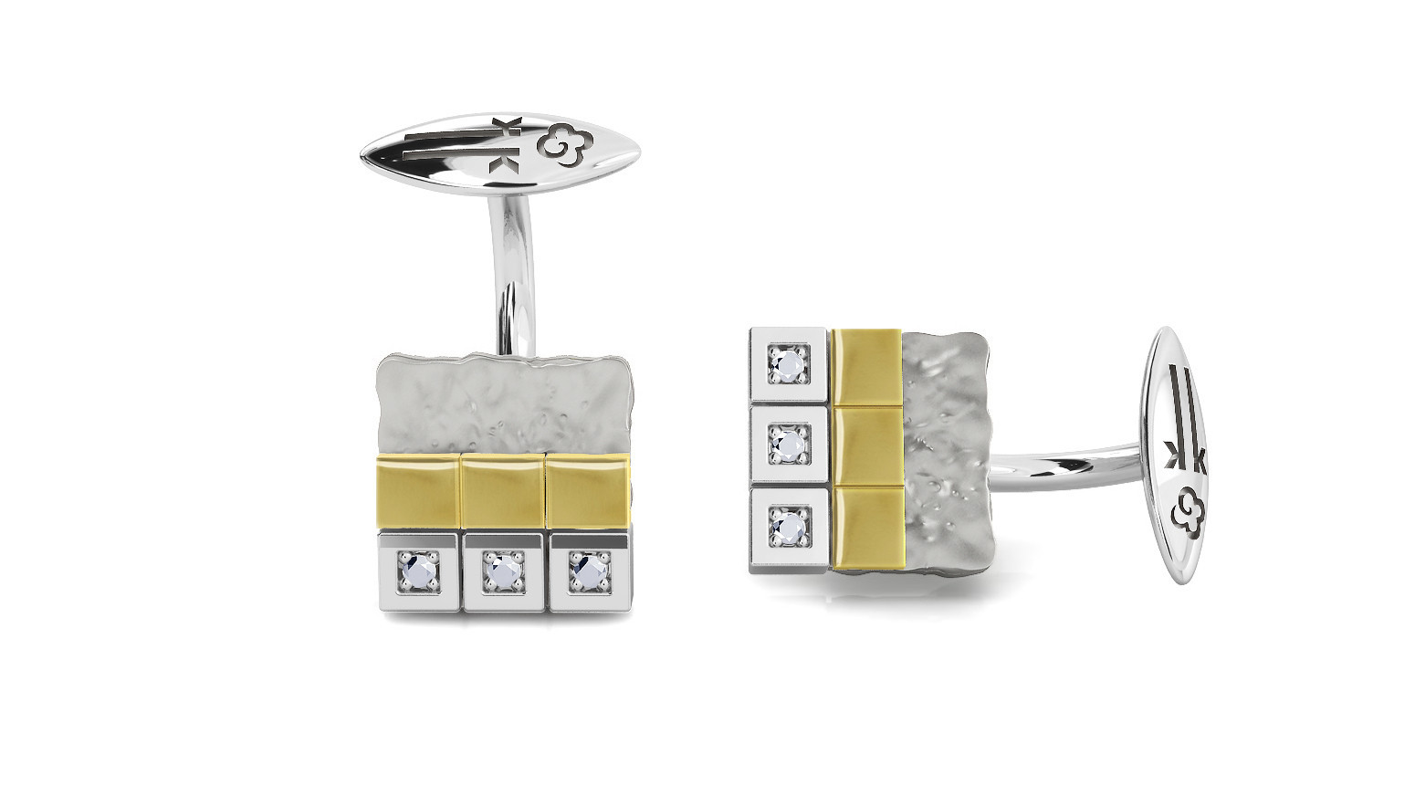 An easy way to help a groom to stand out on his wedding day is through the use of fashionable cufflinks such as these from Spanish brand Kukka.
