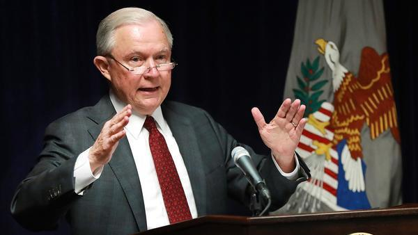 Atty. Gen. Jeff Sessions says his department won't be 'improperly influenced by political considerations'