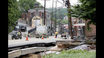 What Ellicott City businesses are in the buildings slated to be razed under flood plan?