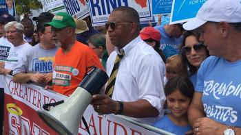 Democratic governor campaigns court black voters in South Florida