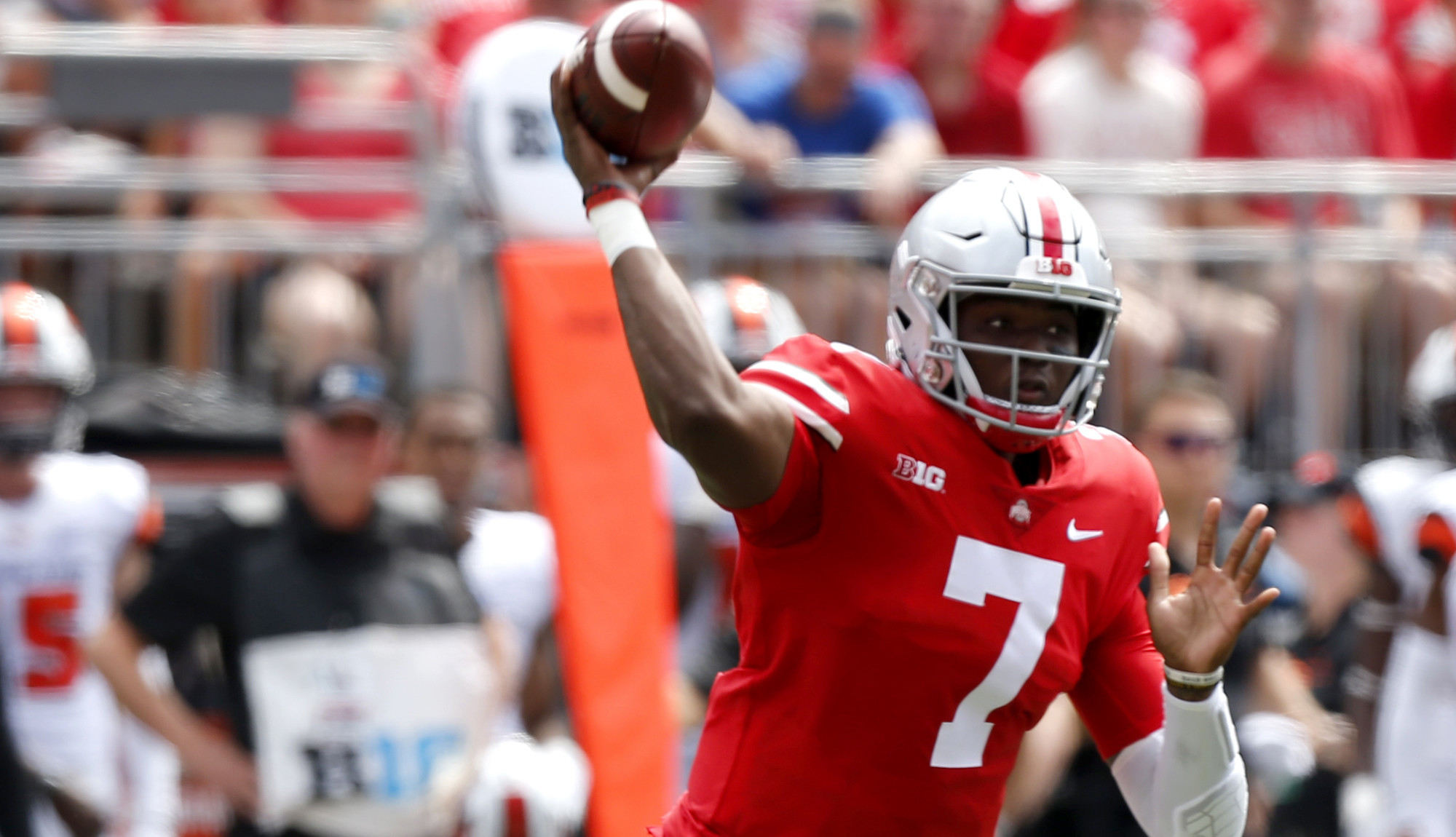 College football: Ohio State trounces Oregon State 77-31; Maryland upsets Texas; Alabama rolls