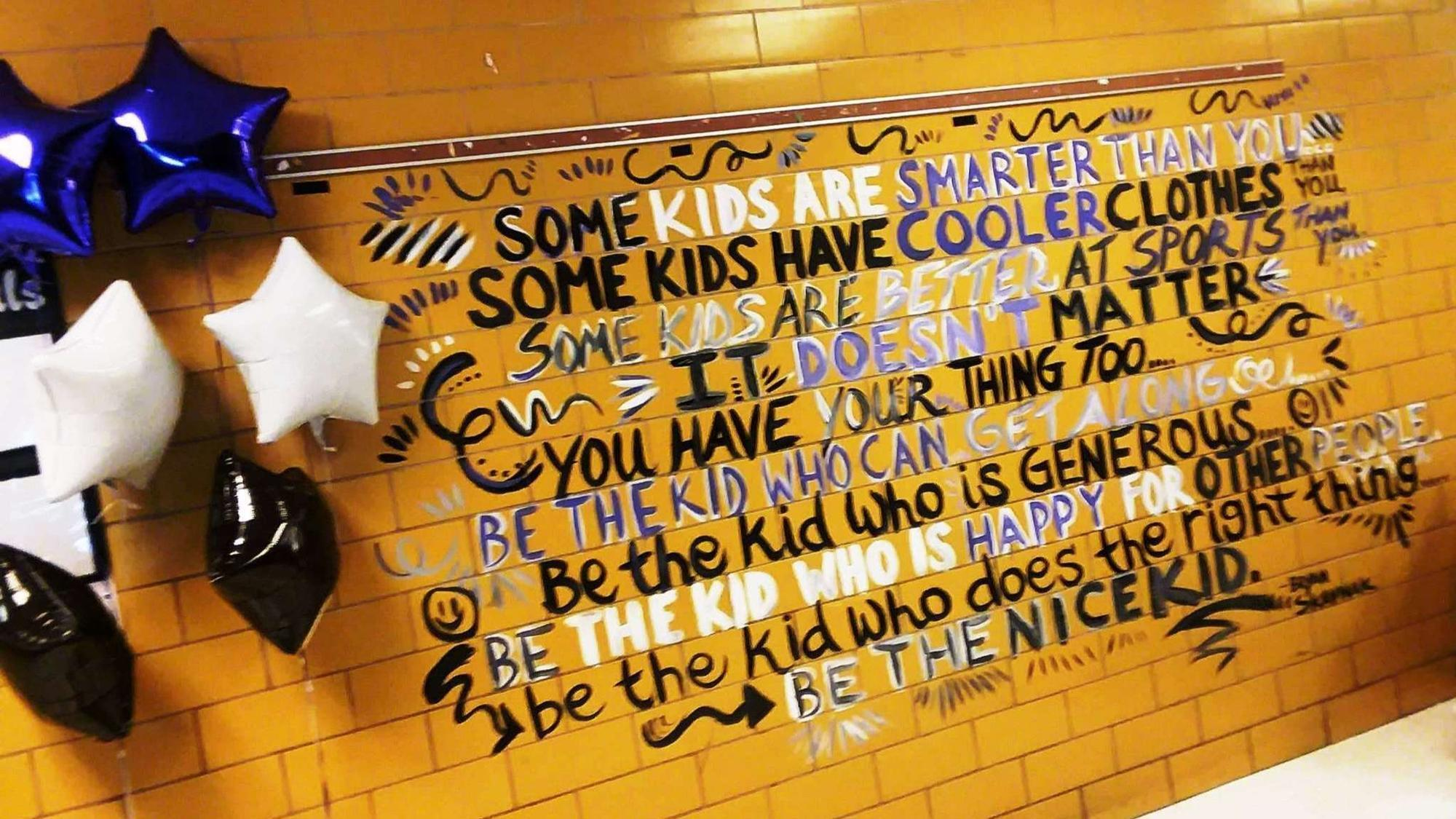 Be The Nice Kid Artist Paints Motivational Back To School Messages