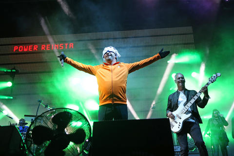 Jay Kay performs with Jamiroquai during the North Coast Music Festival on Sept. 2, 2018, in Union Park in Chicago.
