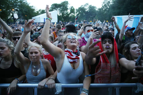 The crowd at the North Coast Music Festivalon Sept. 2, 2018, in Chicago's Union Park.