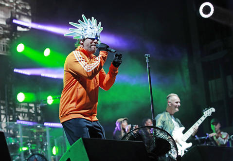 Jay Kay peforms with Jamiroquai during the North Coast Music Festivalon Sept. 2, 2018, in Chicago's Union Park.