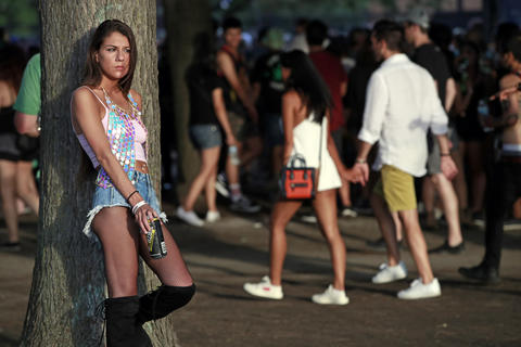 Gianna Mancia, of Flossmoor, attends the North Coast Music Festivalon Sept. 2, 2018, in Chicago's Union Park.