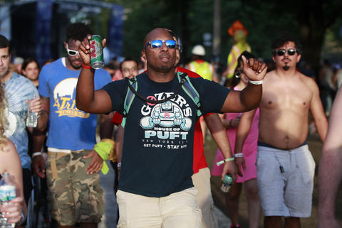 Concertgoers attend the North Coast Music Festivalon Sept. 2, 2018, in Chicago's Union Park.