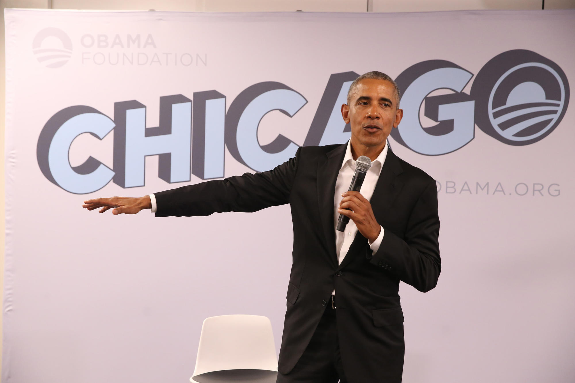 Image result for photos of president obama at u of illinois