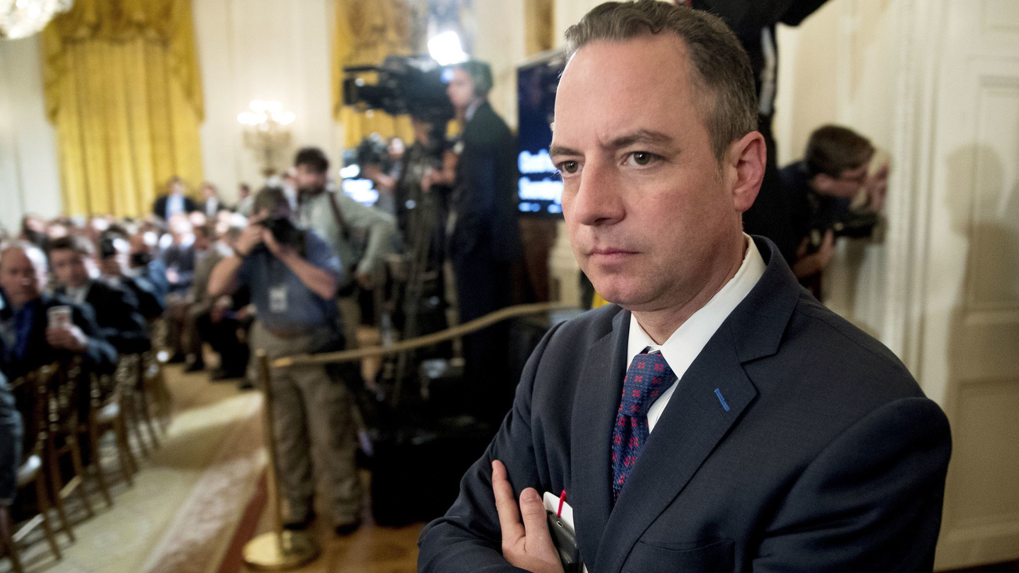 Reince Priebus says media should give Trump 'his due' and 'quit reporting on the daily gossip-and-grind'