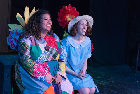 Brittney Brown and Charlie Irving in New American Folk Theatre's world premiere of Scraps.