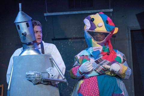 Vic Kuligoski and Brittney Brown in New American Folk Theatre's world premiere of Scraps.