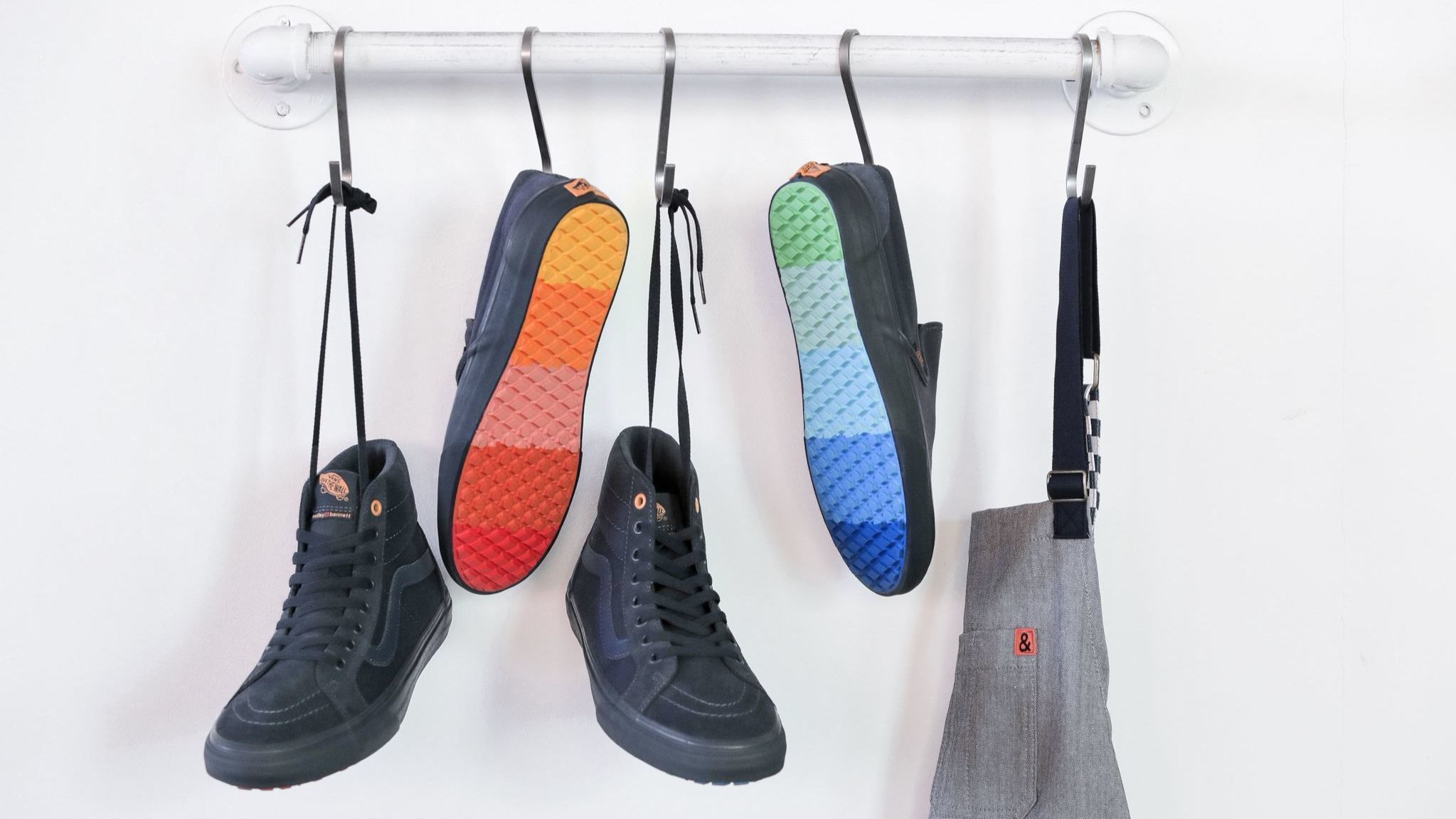 Vans and local chefwear label Hedley &Bennett cook up a rainbow-soled collaboration