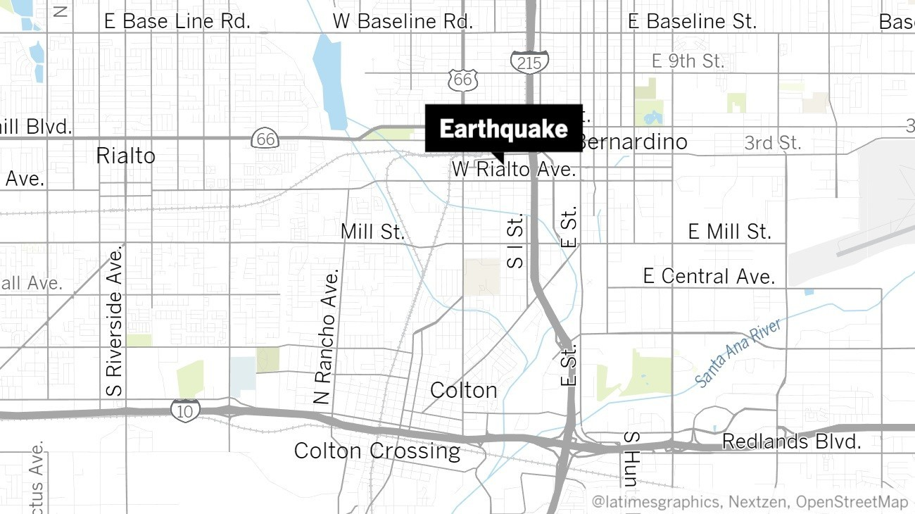 Earthquake: 3.4 quake shakes San Bernardino area
