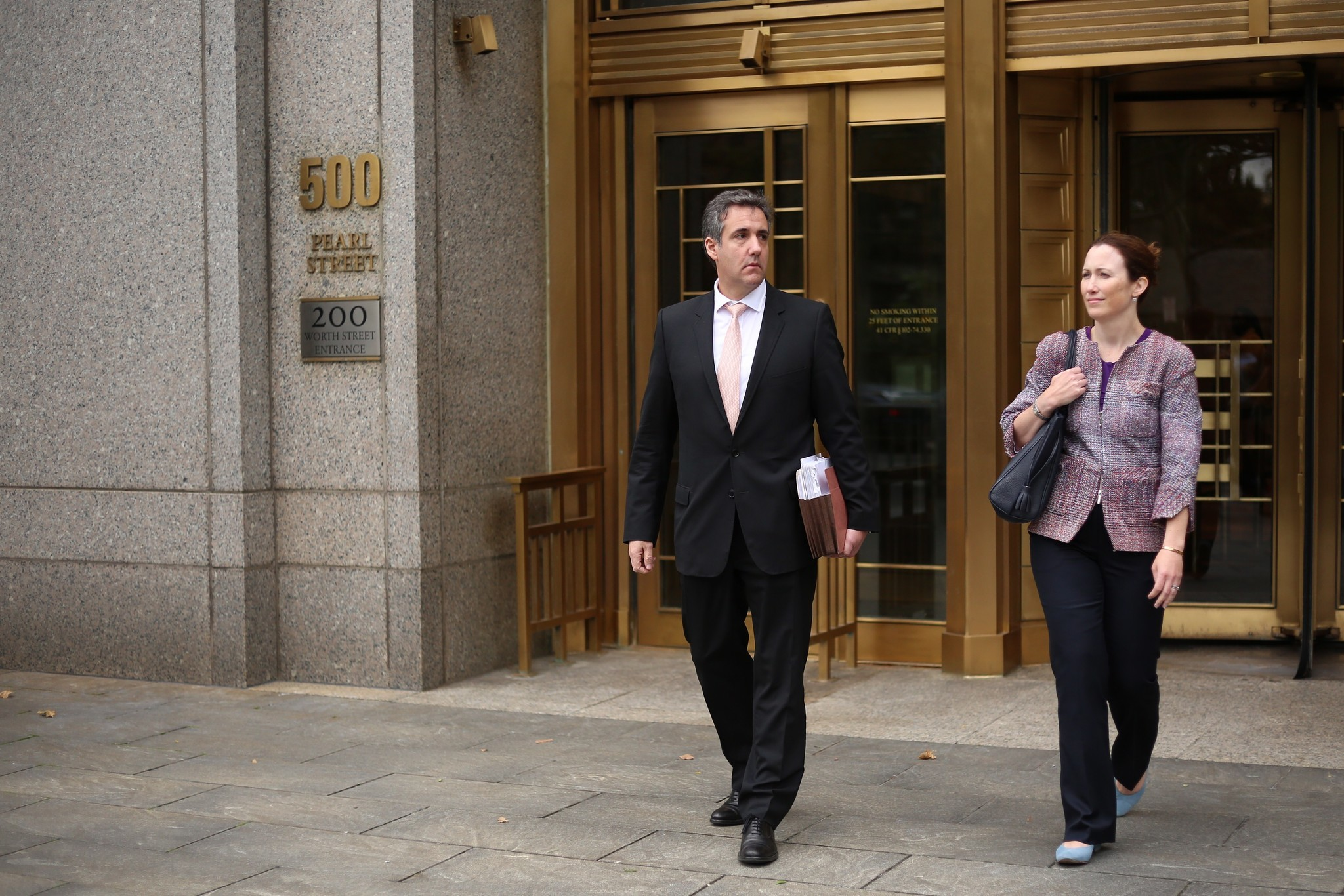 Michael Cohen spotted leaving Manhattan Federal Court   New York Daily News