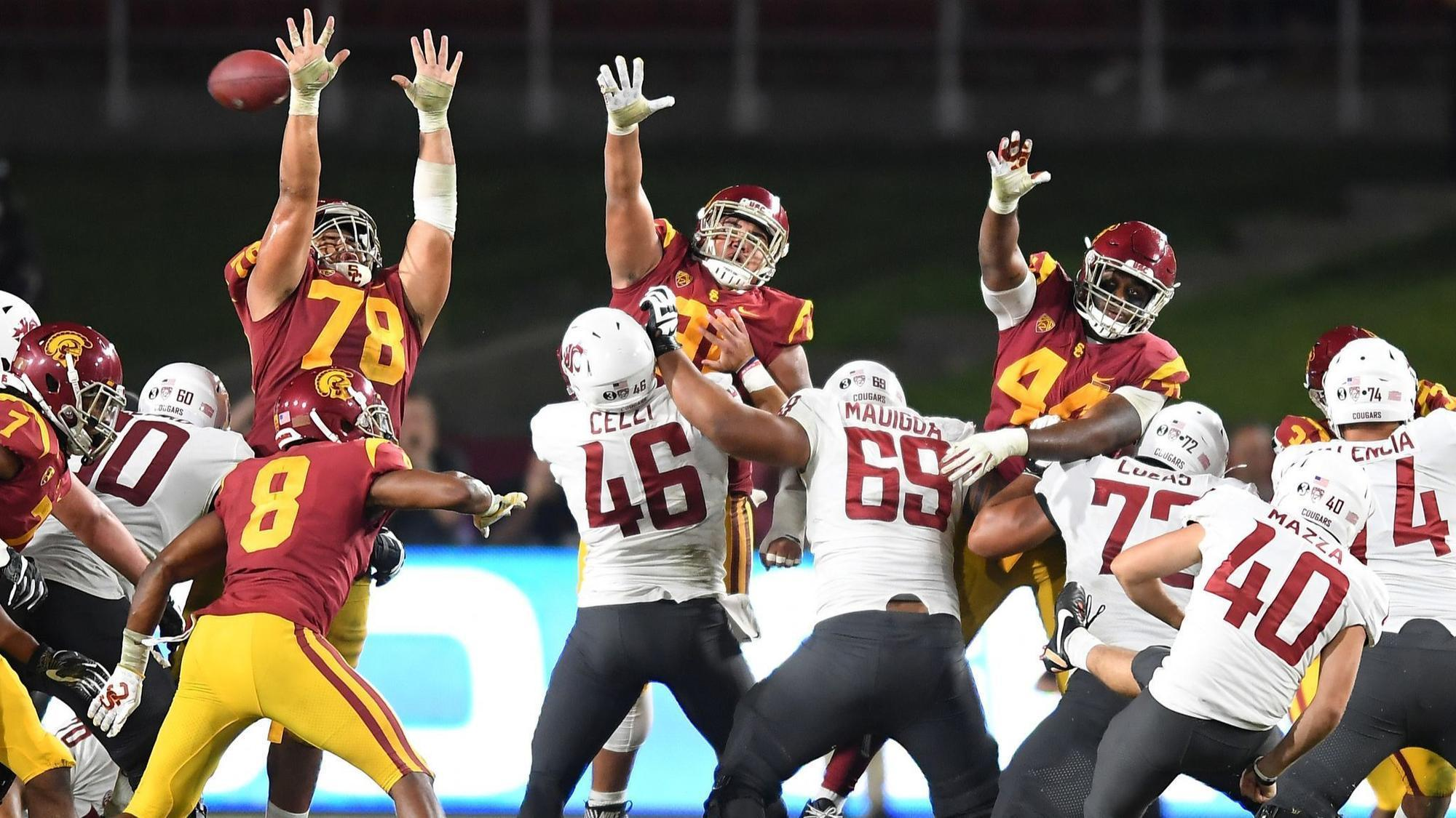 USC keeps winning streak at Coliseum alive with 39-36 victory over Washington State