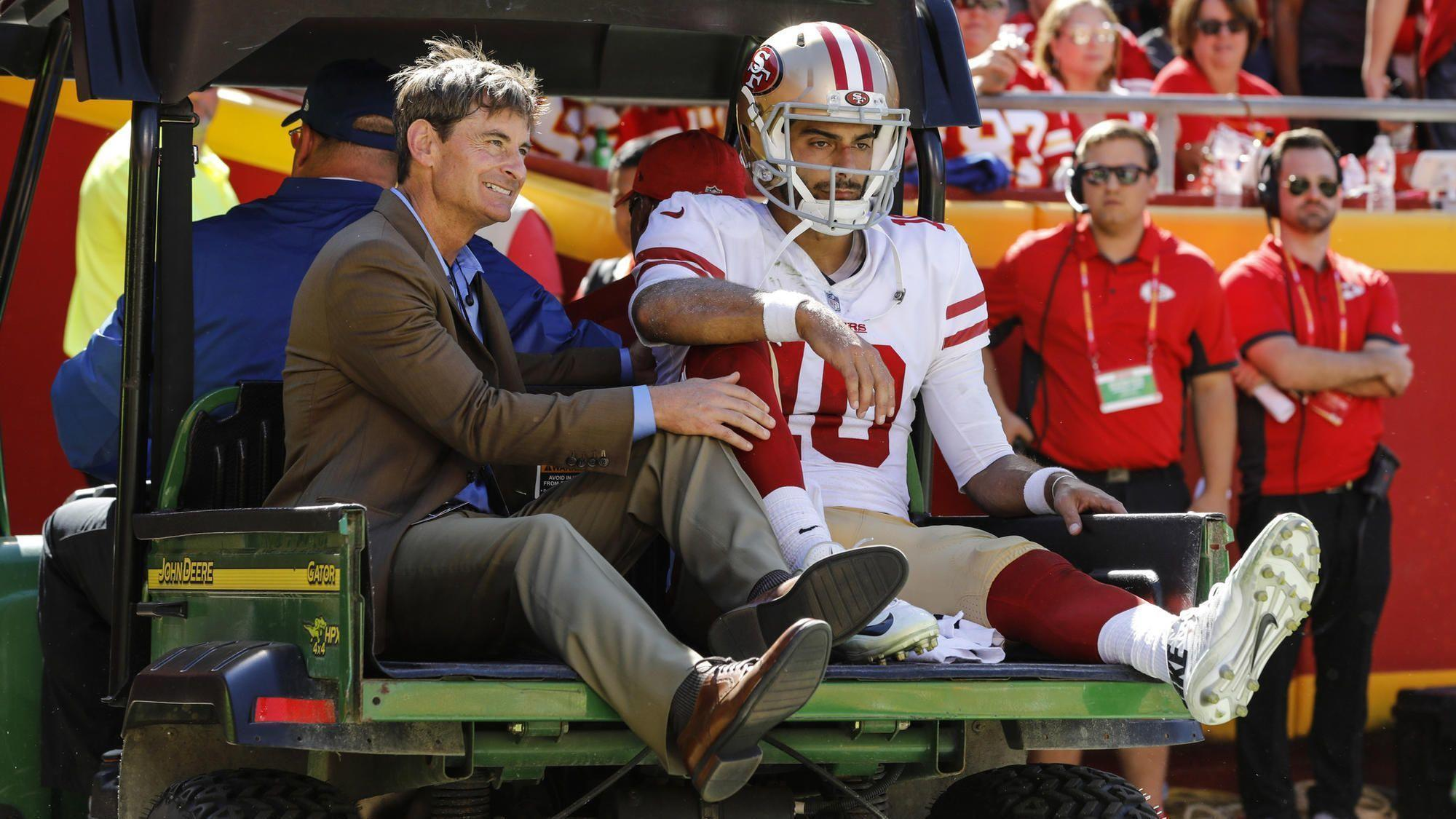 NFL notes: Jimmy Garoppolo is out for the season after MRI reveals torn ACL