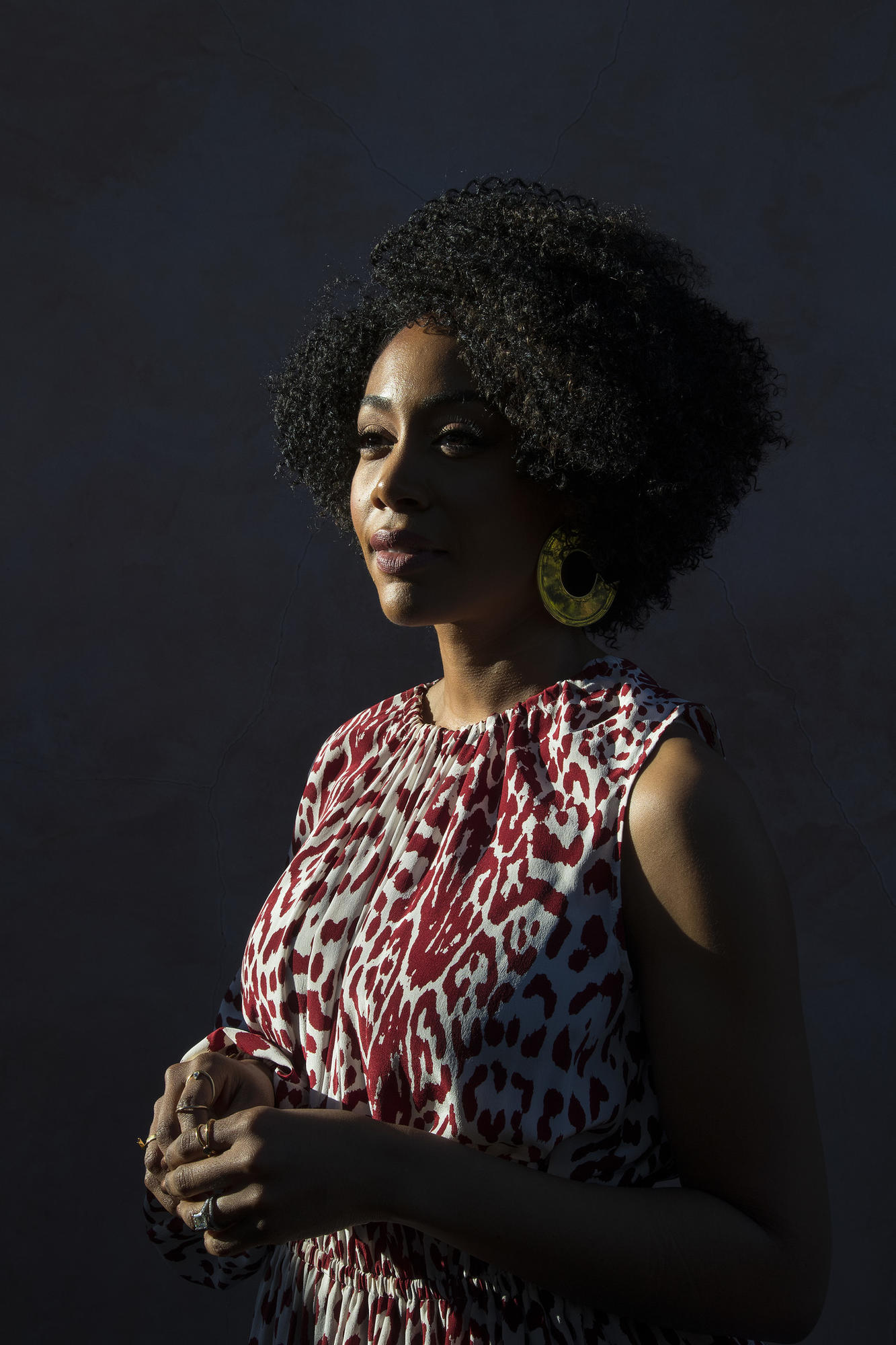LOS ANGELES, CA - MARCH 1, 2018: Actress Simone Missick stars in the new movie Jinn, which is compe