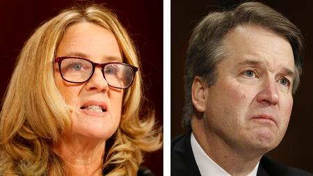 Image result for image of ford and kavanaugh