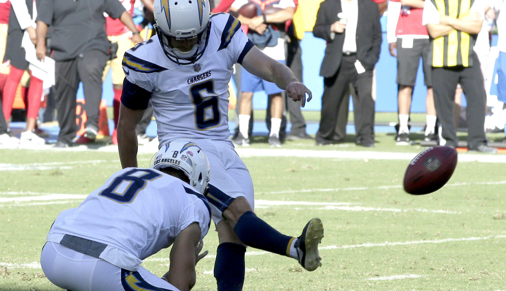 Holder Drew Kaser Is Waived As Chargers Evaluate Kicking