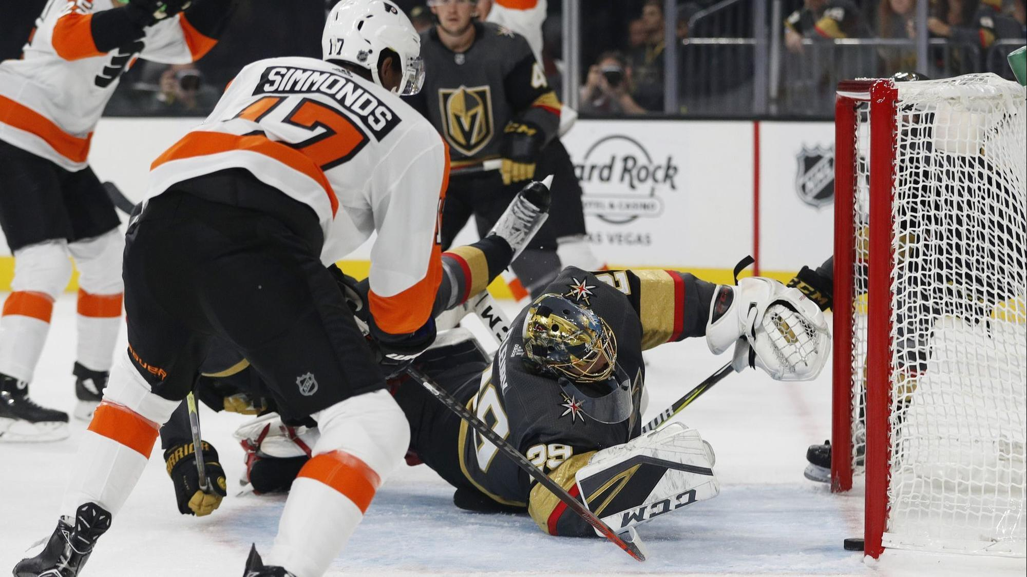 flyers stun knights with easy season opening win the morning call
