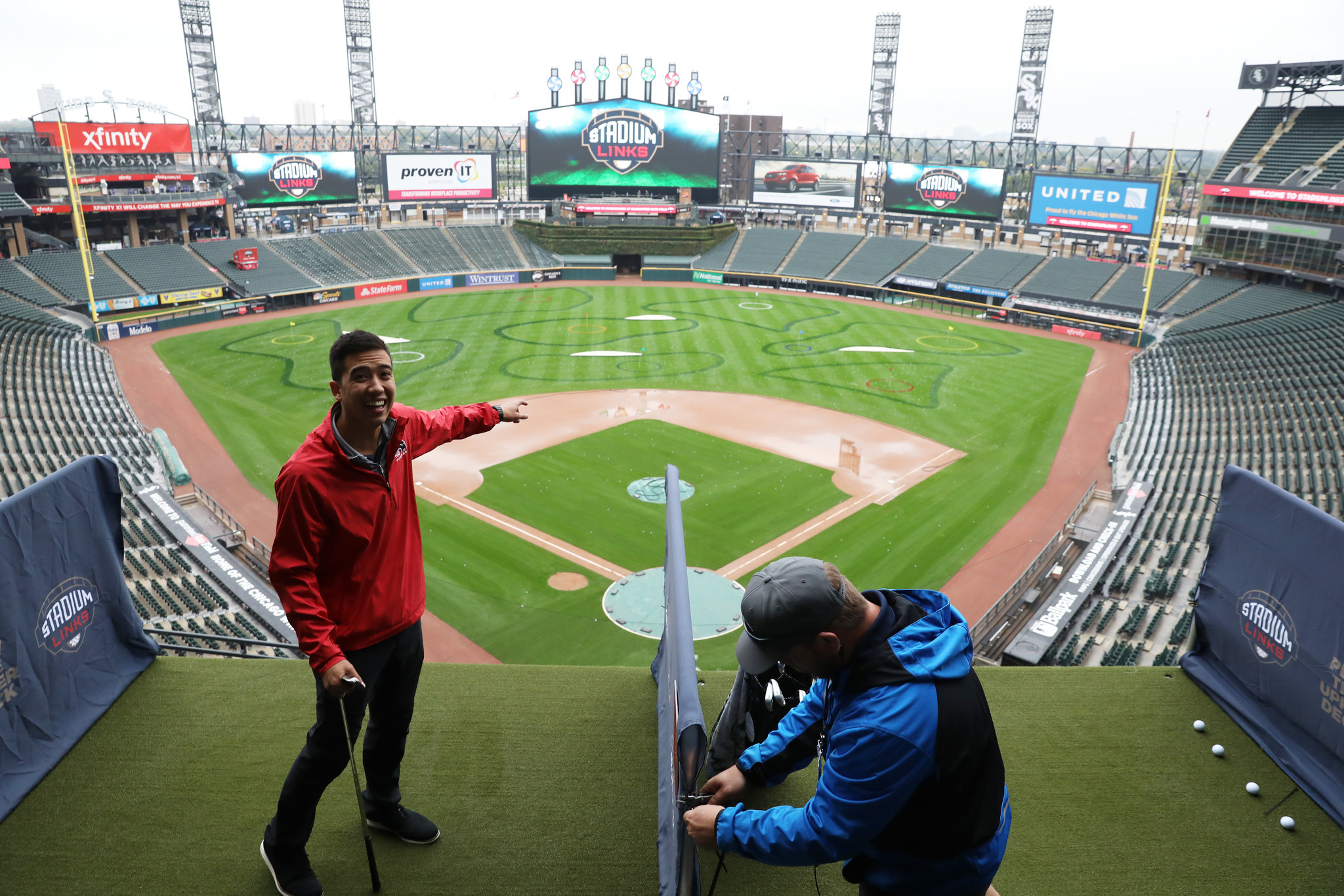If you're headed to White Sox Park this weekend, bring your 9-iron