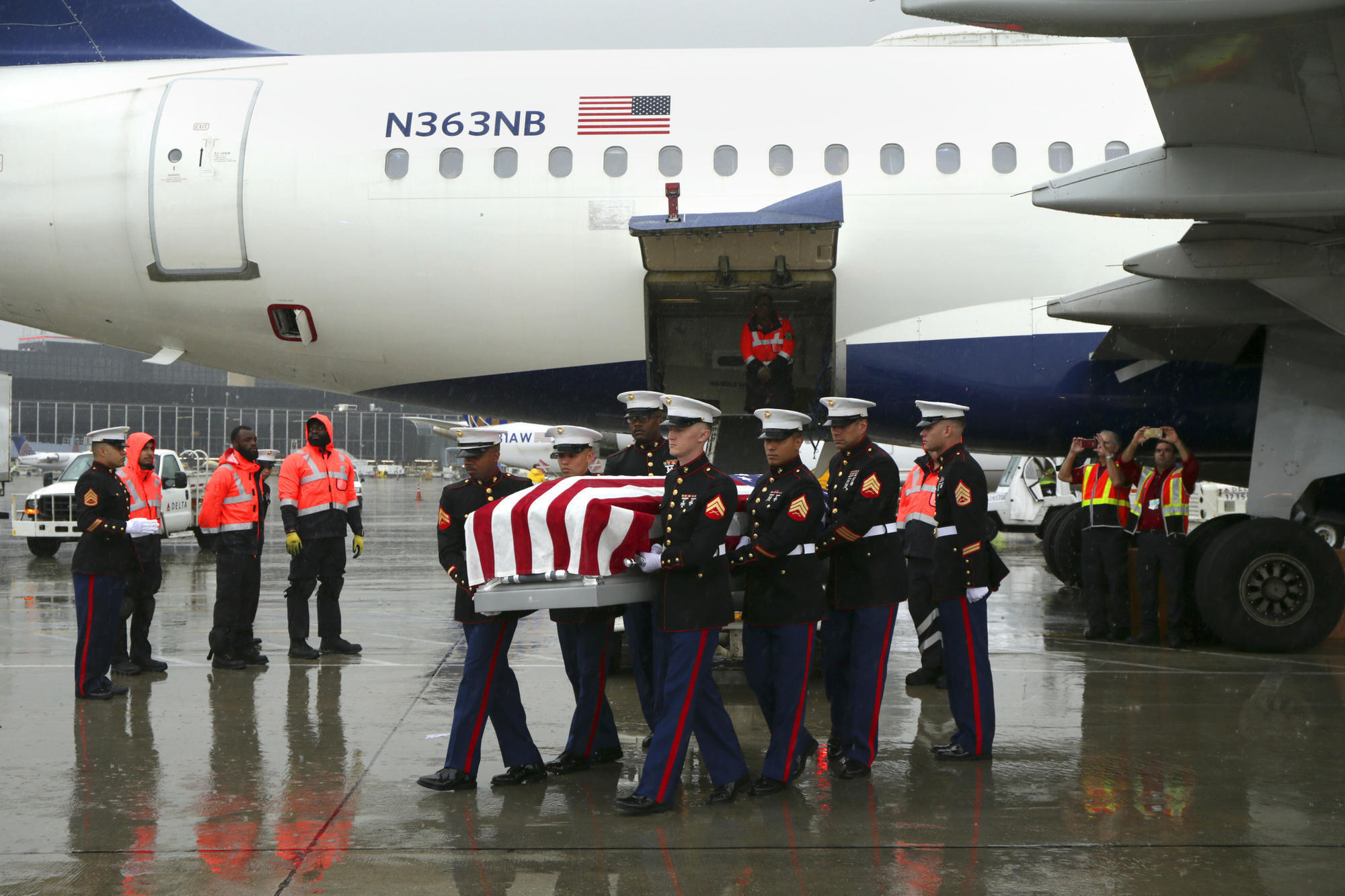 World War II Marine finally returns home, 75 years after his death