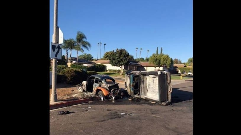 Escondido crash sends 5 to hospital, including 3 siblings; 20-year-old woman in ICU with life-threatening injuries