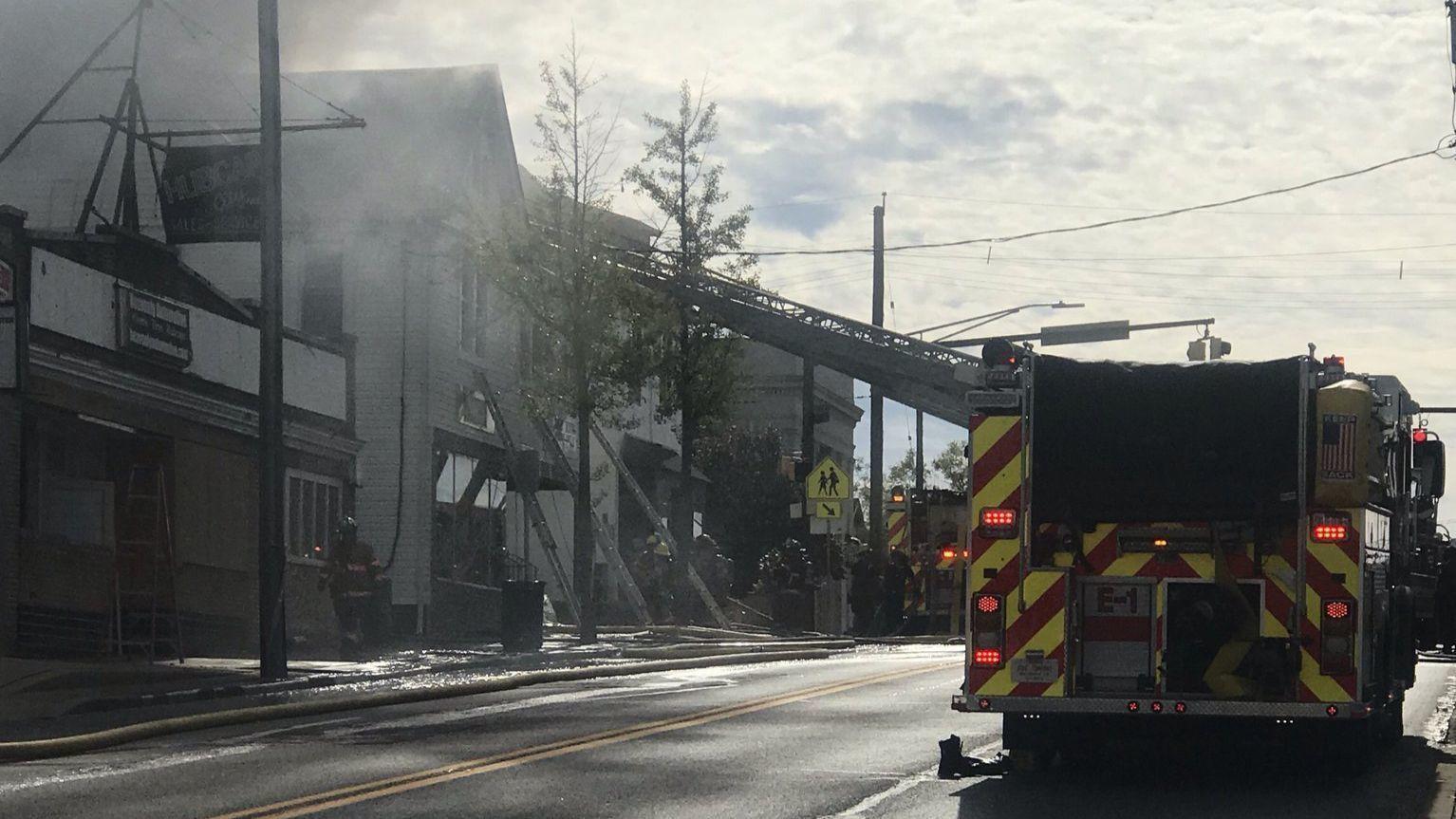 Baltimore County Fire Department battling house fire in Overlea | Baltimore Sun