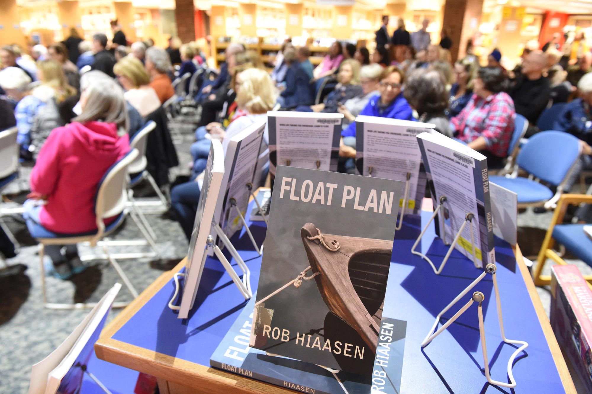Family, friends, co-workers come together to read Rob Hiaasen's 'Float Plan'
