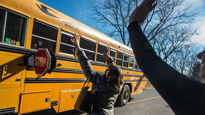 Survey: More drivers ignoring school bus stop arm rules in Maryland