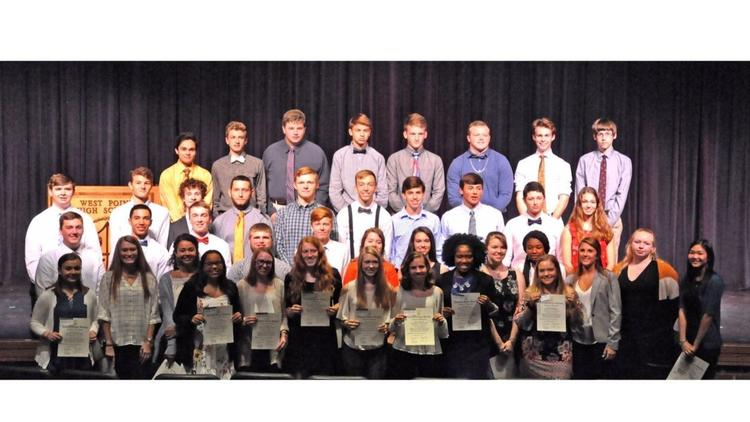 WPHS Welcomes Honor Society Members