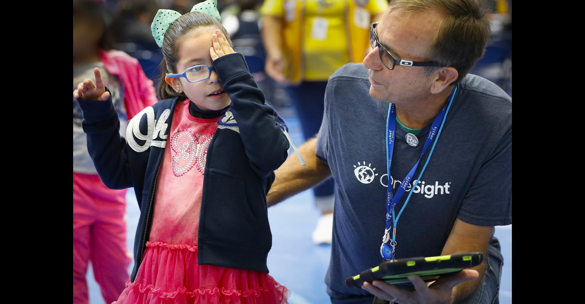 OneSight provides glasses and exams to students