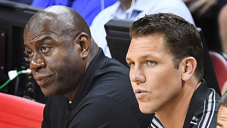 Magic Johnson on his relationship with Lakers coach Luke Walton: 'We're all good'