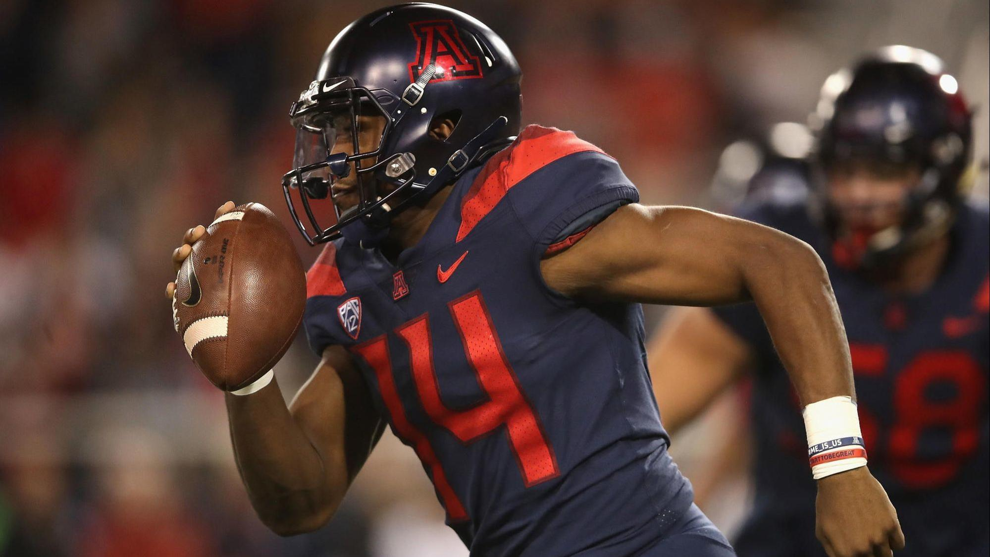 Pac-12 football: Tate's five touchdown passes lead Arizona to 42-34 win over Colorado