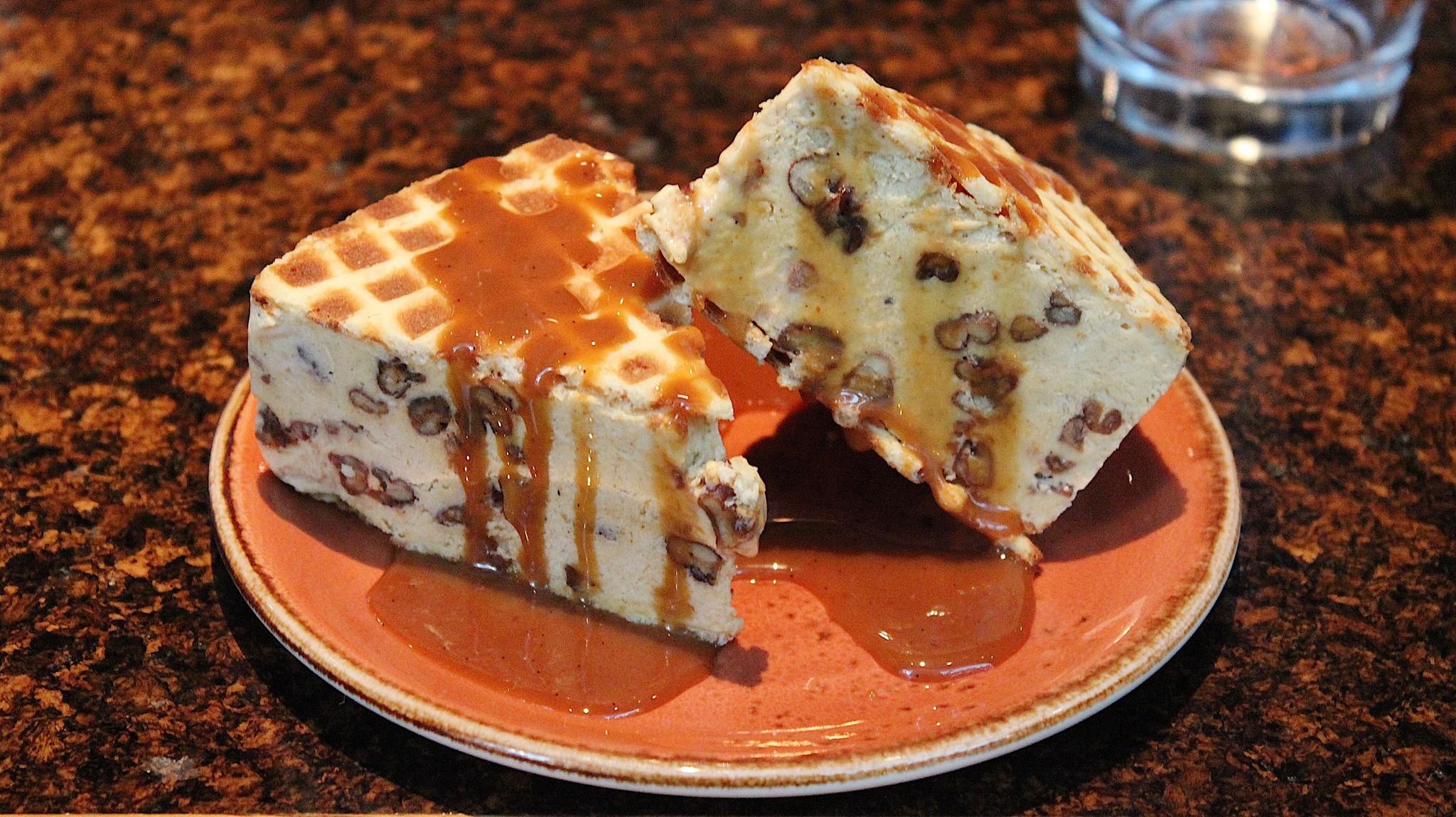 Pumpkin pie ice cream sandwich at State and Lake Chicago Tavern