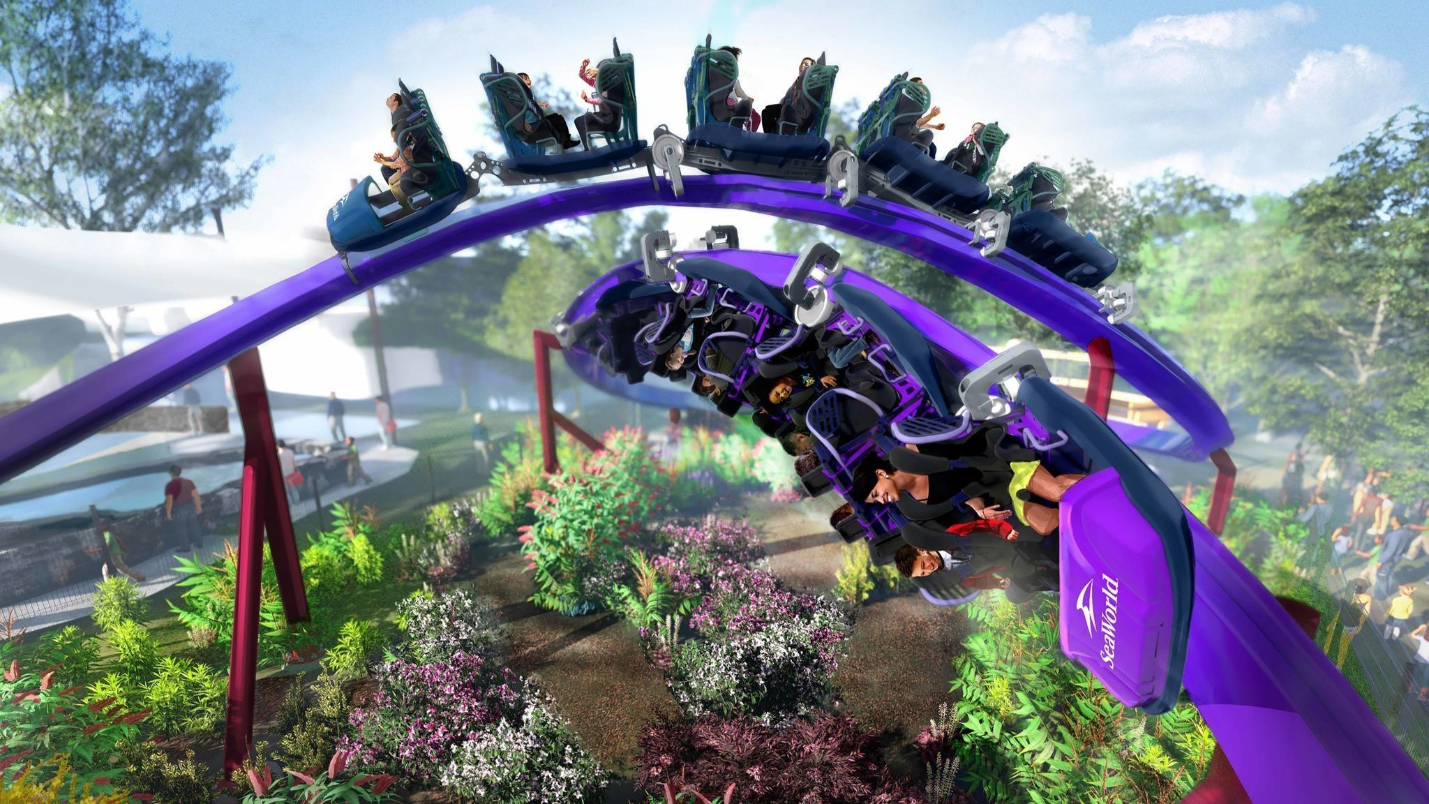 Is SeaWorld's Tidal Twister dueling coaster really a coaster and can it actually duel? | San Diego Union Tribune