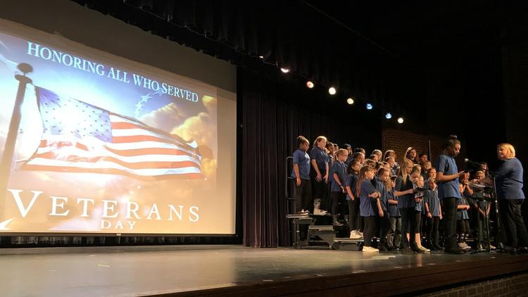 Elementary School Honors Veterans