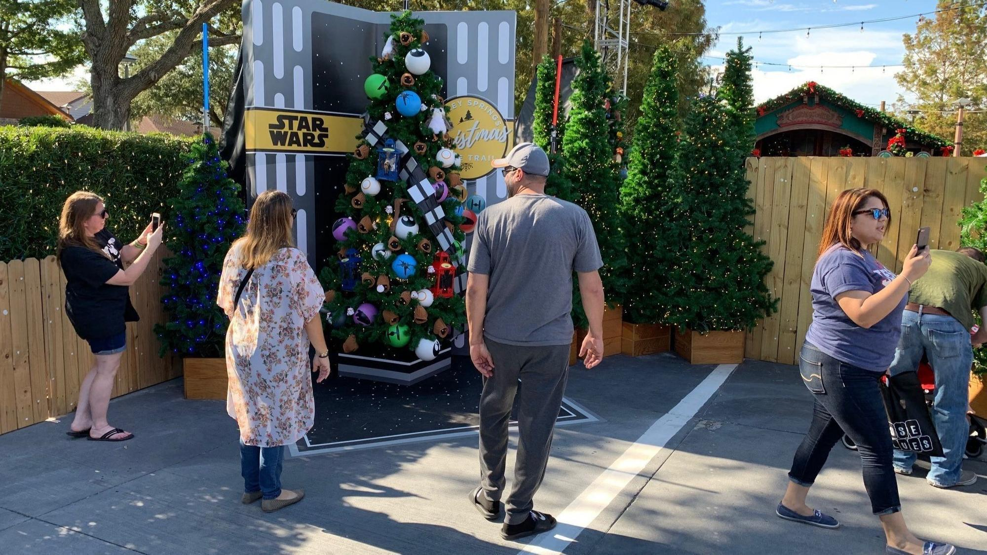 disney springs christmas tree trail trimmed with characters orlando sentinel