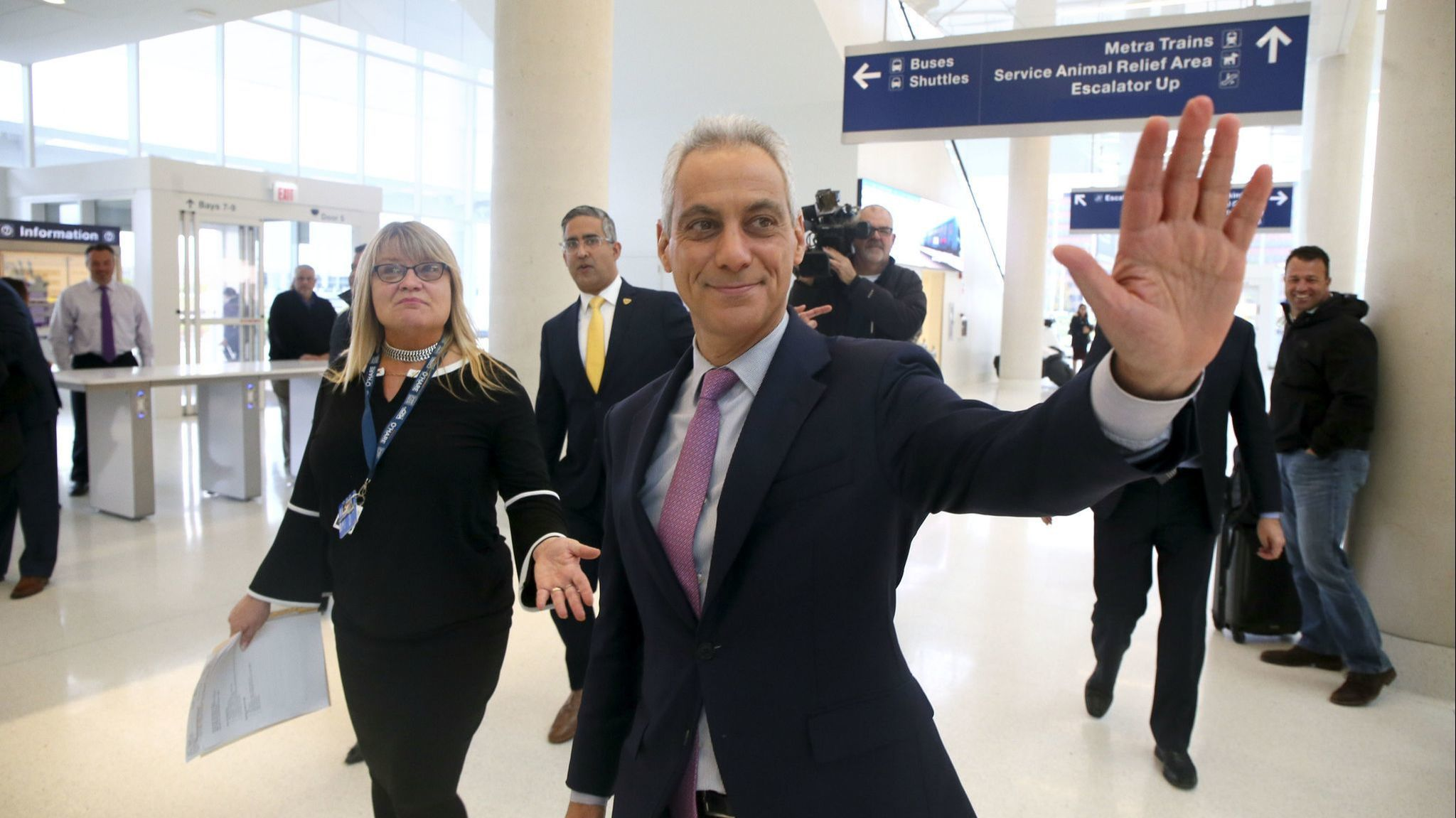 Mayor Rahm Emanuel says 'don't worry about my future' after report he's been in talks to become a cable news pundit