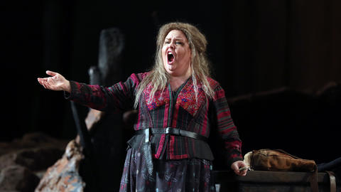 "Jamie Barton plays Azucena during a dress rehearsal of a Lyric Opera of Chicago production of Giuseppe Verdi's ""Il trovatore"" at the Civic Opera House in Chicago on Wednesday, Nov. 14, 2018."