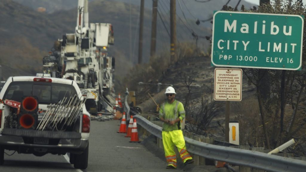 California fires: Malibu residents homeward bound — sort of