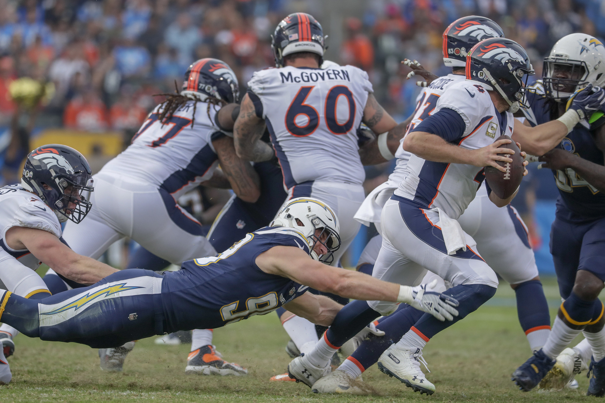 This time, Chargers' defense fails to hold on final drive and Broncos leave town with 23-22 victory