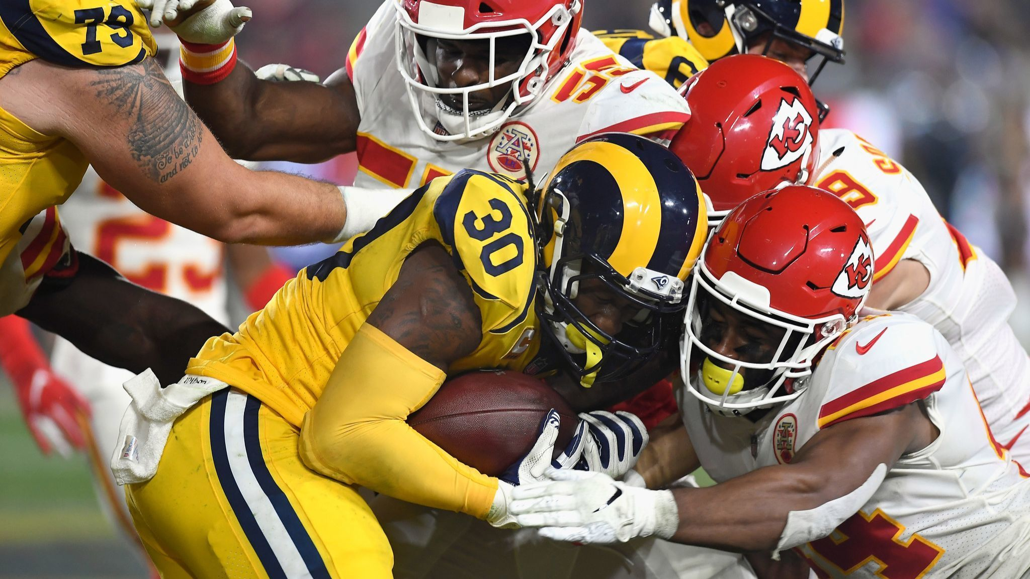 Todd Gurley's quiet night included a mildly sprained ankle