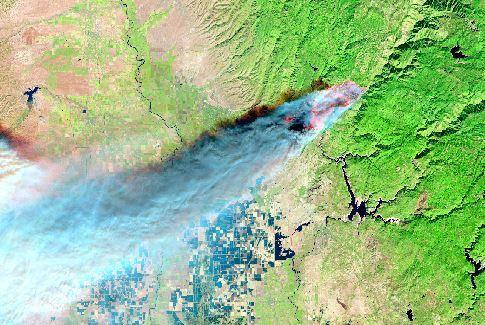 Dramatic NASA images show destruction of California fires from space